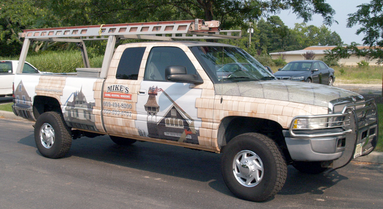 3M Controltac Truck Wrap-Dodge Ram Pickup-Mike's Siding & Roofing