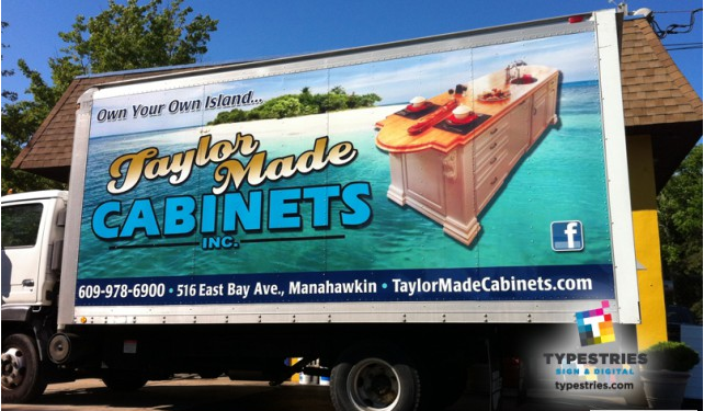 Box truck wrap  - 3M controltac for Taylor Made Cabinets