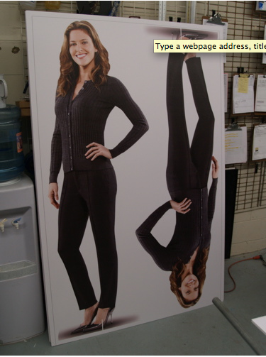 Cut out standees for Ford Lincoln.