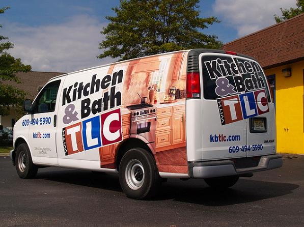 Full 3M controltac wrap on full size van for Tuckerton Lumber, Surf City, NJ