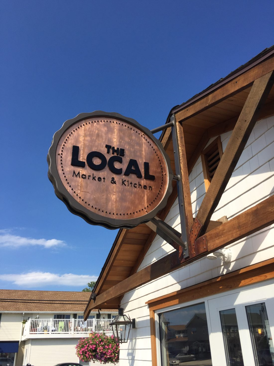 Commercial, dimensional, 3-d mixed media sign and branding for The Local in Ship Bottom on Long Beach Island
