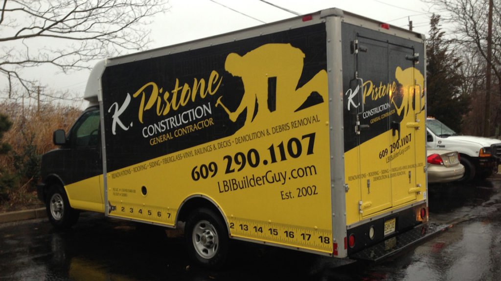 3M box truck wrap for Pistone Construction serving Manahawkin and Long Beach Island