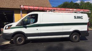 Fleet striping and lettering for Ford Transit NJ